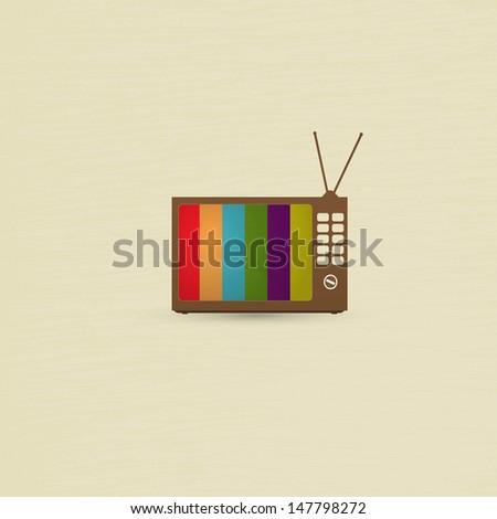 Retro TV background - stock photo