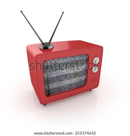 retro tv. 3d illustration. - stock photo