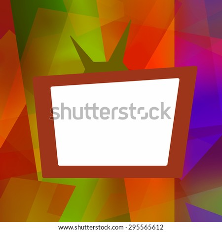 Retro TV frame on abstract background - stock photo