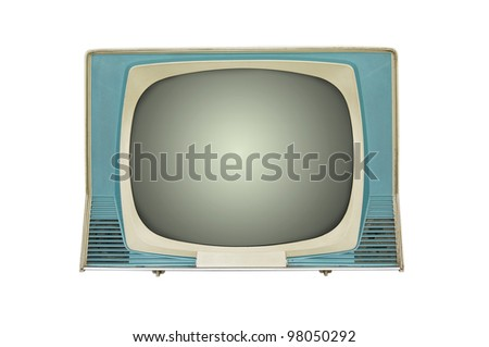 retro tv isolated on white
