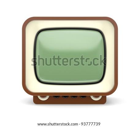 Retro TV. Look more TV in my gallery - stock photo