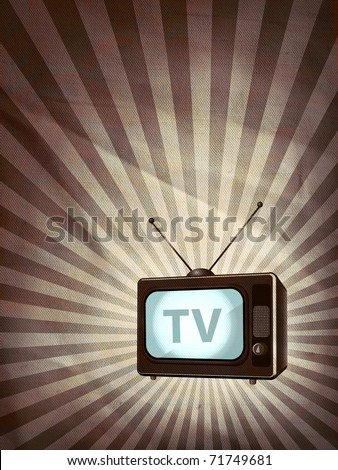 Retro TV poster - stock photo
