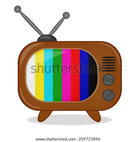 retro tv clip art. retro tv with multi-colored stripes on the screen. tv clip art