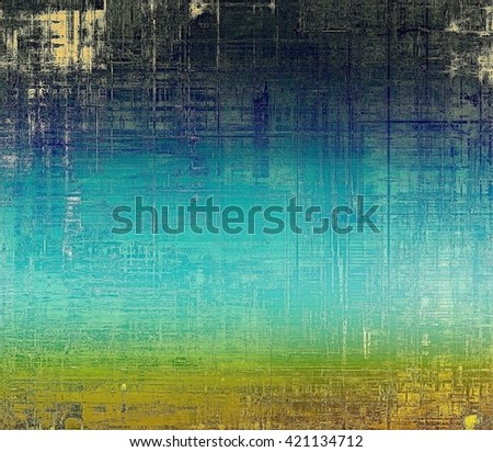 Retro vintage colored background with noise effect; grunge texture with different color patterns: yellow (beige); brown; green; blue; cyan - stock photo