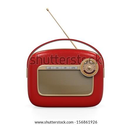 Retro Vintage Radio - stock photo