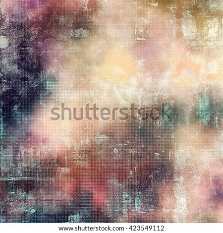 Retro vintage style background or faded texture with different color patterns: yellow (beige); blue; gray; red (orange); purple (violet); pink - stock photo