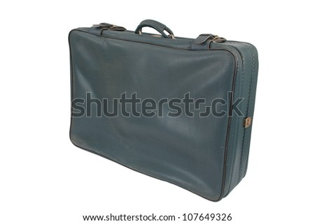 Retro Vintage Suitcase, isolated on a white background