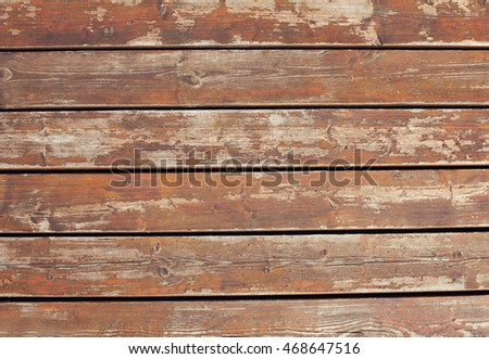 Retro wooden background, table or boards top view