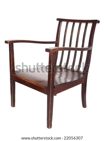 retro wooden brown chair