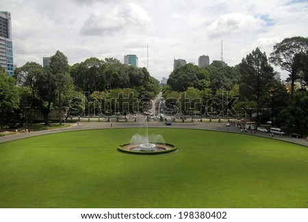 Reunification Palace(Independence Palace) in Ho Chi Minh City, Vietnam - stock photo