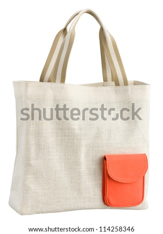Reusable cloth bag for reduce plastic bag when shopping - stock photo