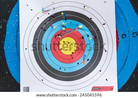 reuse Archery target - stock photo