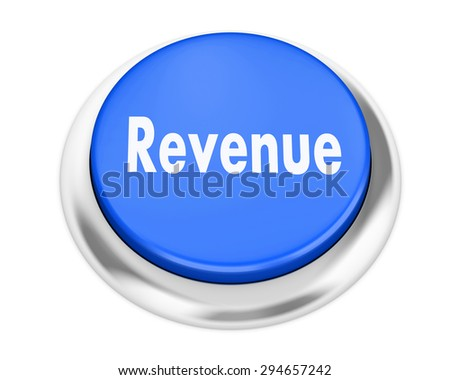 Revenue button on isolate white background - stock photo
