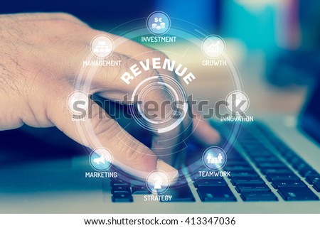 REVENUE TECHNOLOGY COMMUNICATION TOUCHSCREEN FUTURISTIC CONCEPT