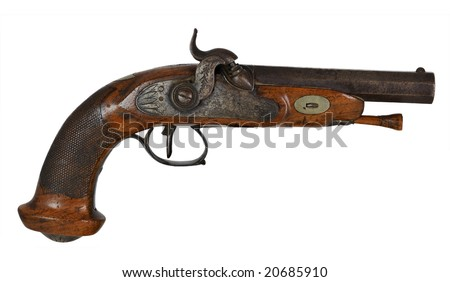 revolver, black powder pistol