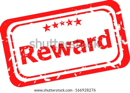 reward red rubber stamp over a white background