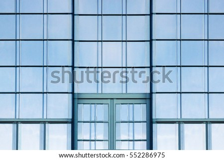 Reworked Photo Hitech Office Building Facade Stock Photo Image