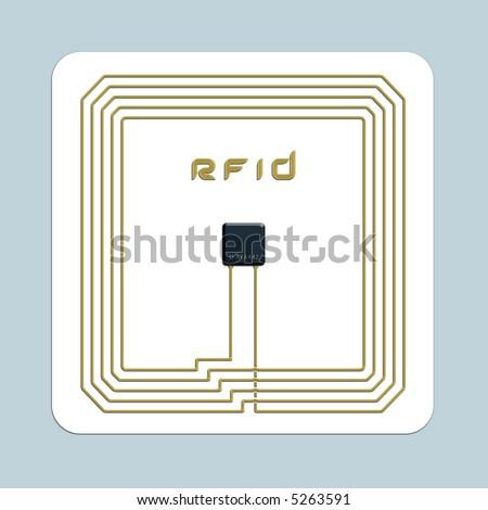 RFID chip - stock photo
