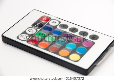 RGB led strip ir remote controller. - stock photo