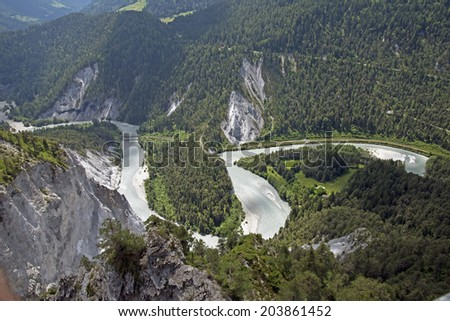 Rhine Gorge, Switzerland - stock photo