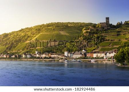 Rhine river  - stock photo