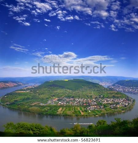 Rhine Valley,  Germany,  UNESCO - stock photo