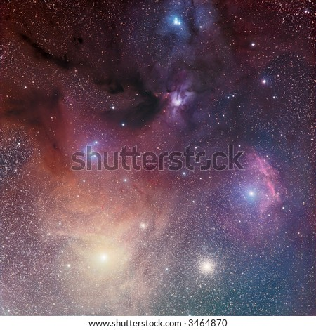Rho Ophiuchi / Antares region - stock photo