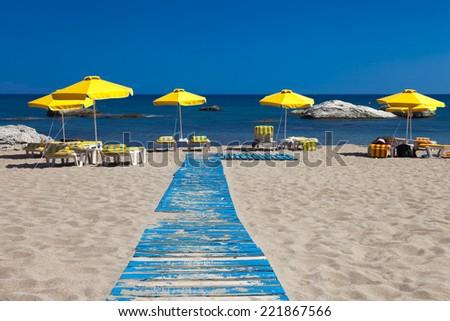 Rhodes Greece - Stegna Beach - stock photo