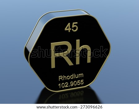Rhodium - stock photo
