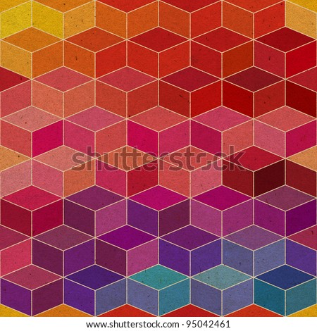 rhombic seamless pattern.Seamless pattern can be used for wallpaper, pattern fills, web page background,surface textures. Spectrum seamless floral background - stock photo