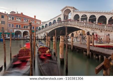 Rialto Bridge, Venice, Italy - stock photo