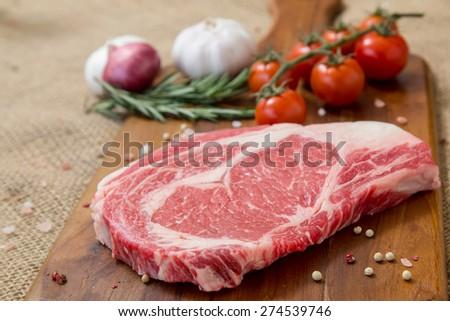 rib eye steak - stock photo