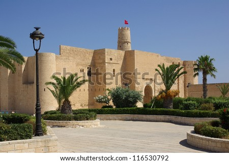 Ribat in Monastir in Tunisia, Africa in summer day