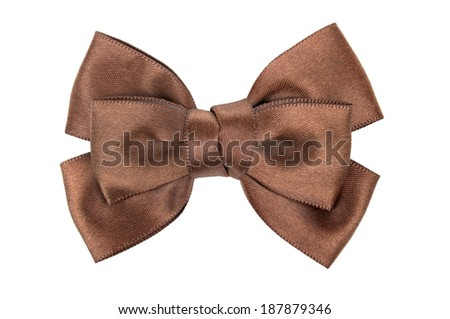 ribbon bow isolated