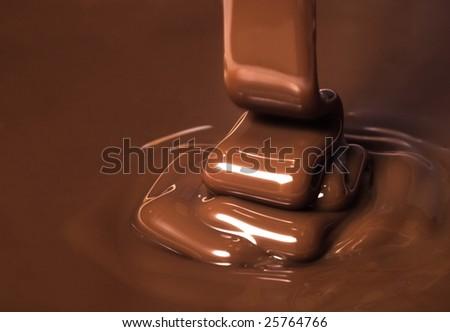 Ribbon of chocolate - stock photo