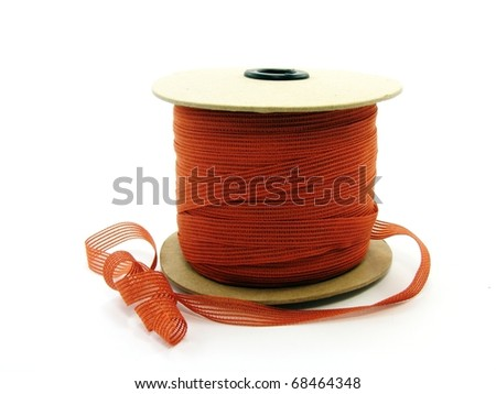 Ribbon on Cardboard Reel - stock photo