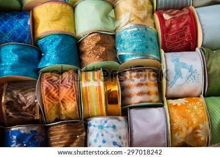 Ribbon sample - stock photo