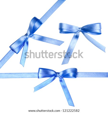 Ribbon with bow isolated on a white background