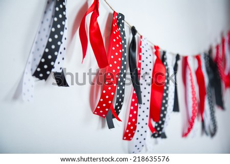 ribbons over white background, design element - stock photo