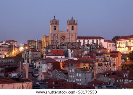 Ribeira - the old town of Porto, Portugal - stock photo