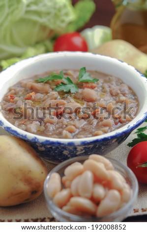 Ribollita soup - stock photo