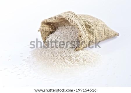 Rice Bag - stock photo