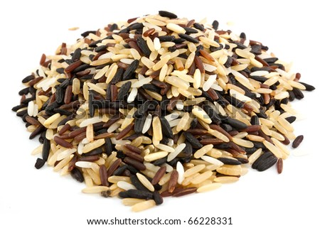 rice blend isolated on white - stock photo