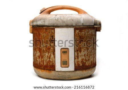 Rice Cooker in Grunge condition - stock photo