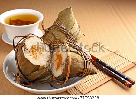 Rice dumpling for dragon boat festival - stock photo