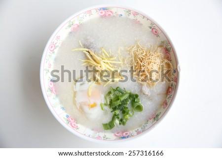 rice porridge   - stock photo