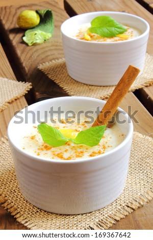 Rice pudding - stock photo