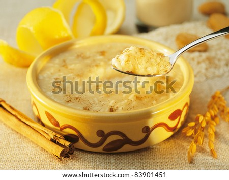 Rice pudding - stock photo