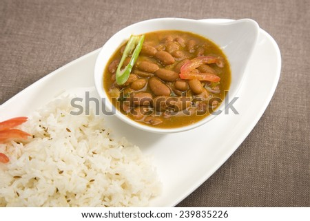 Rice & Rajma or Red kidney Beans, Indian Dish - stock photo