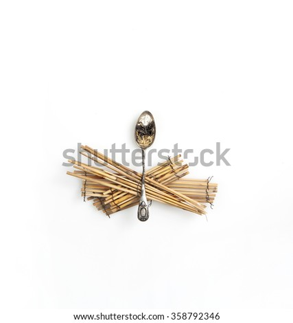 RICE VARIETY , UNIQUE, MINIMAL, CONCEPTUAL IMAGE - stock photo